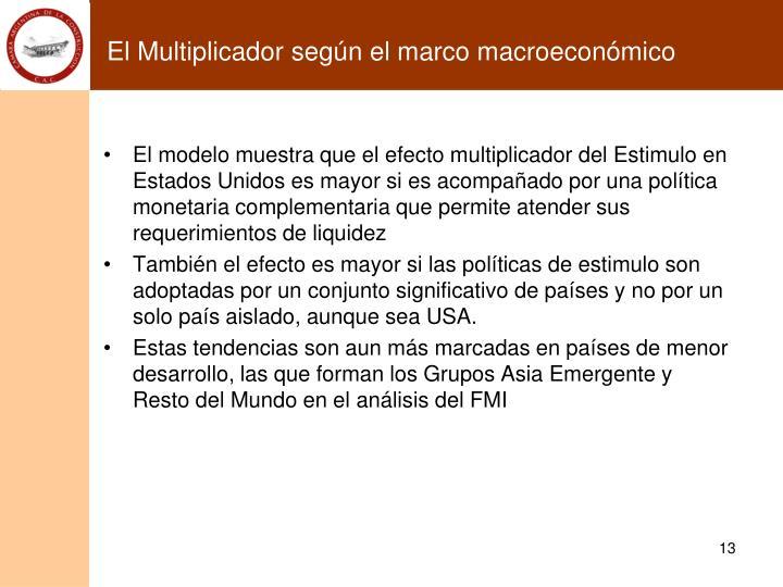 El Multiplicador según el marco macroeconómico