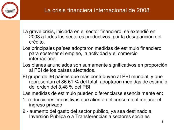 La crisis financiera internacional de 2008