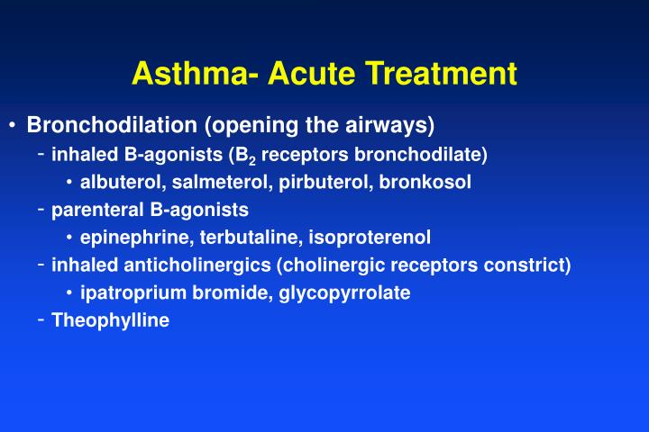 Asthma- Acute Treatment