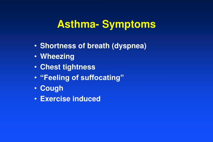 Asthma- Symptoms