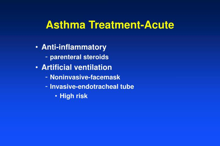 Asthma Treatment-Acute
