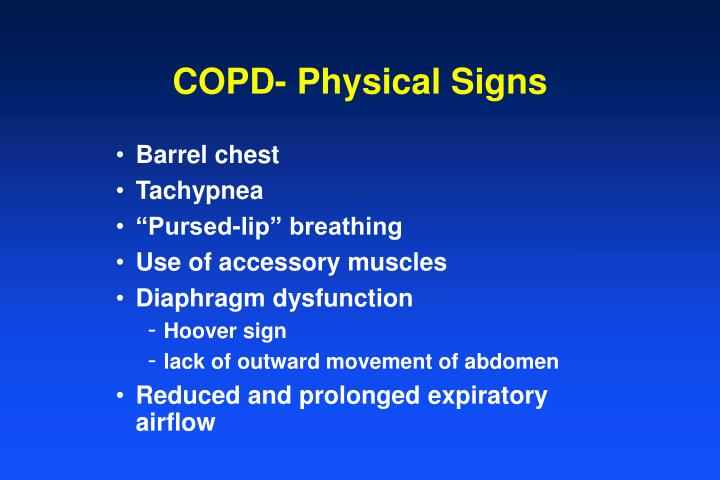 COPD- Physical Signs