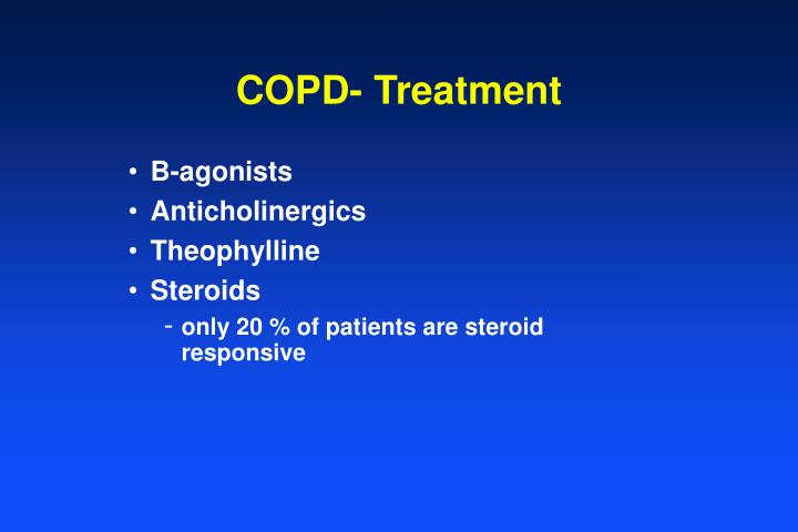 COPD- Treatment