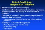 spinal cord injury respiratory treatment