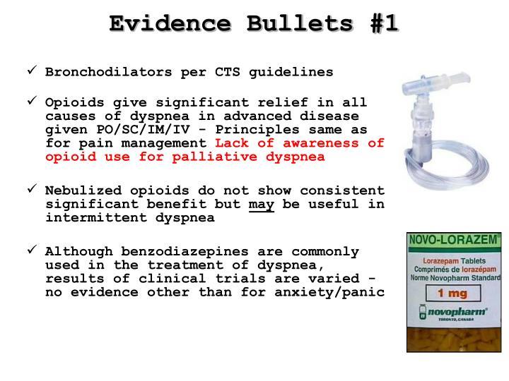 Evidence Bullets #1