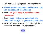 issues of dyspnea management