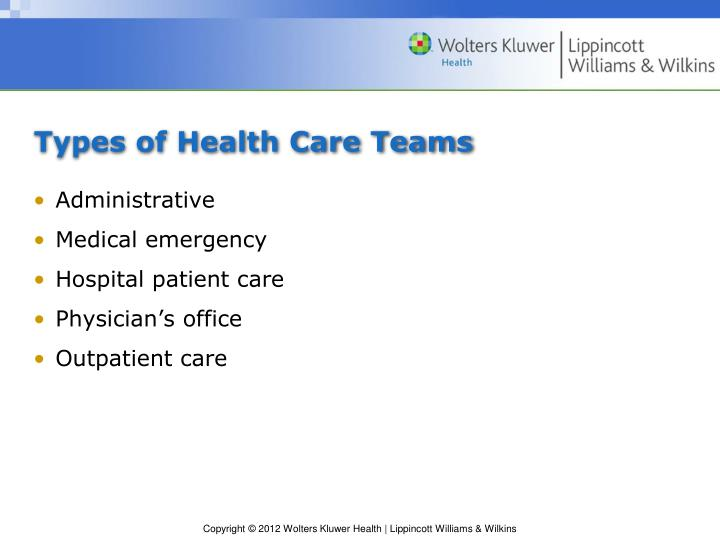 Types of Health Care Teams