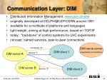 communication layer dim