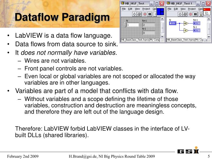 LabVIEW is a data flow language.