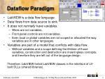 dataflow paradigm