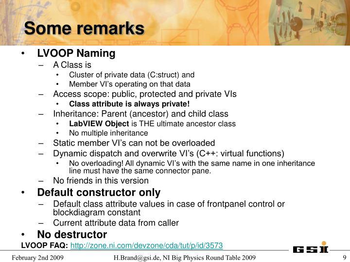 LVOOP Naming
