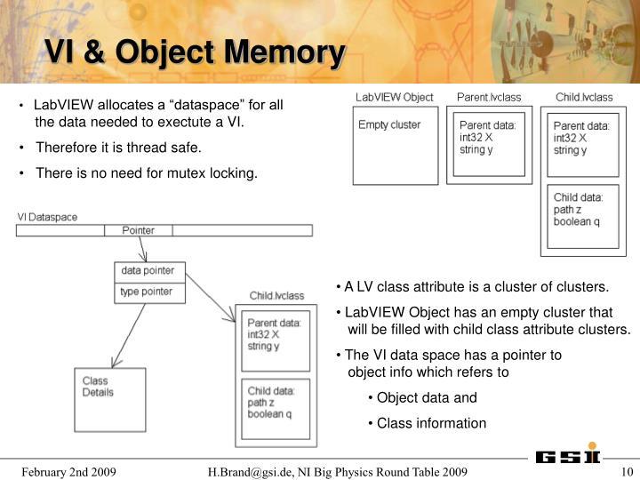 VI & Object Memory