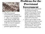 problems for the provisional government