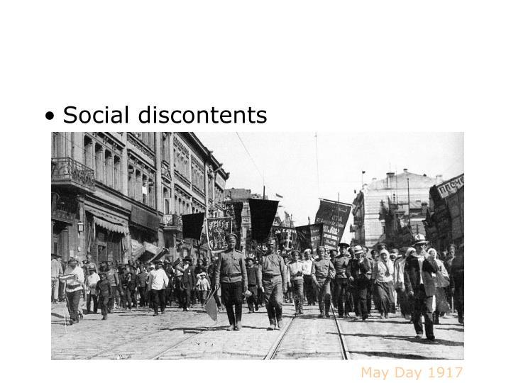 Social discontents