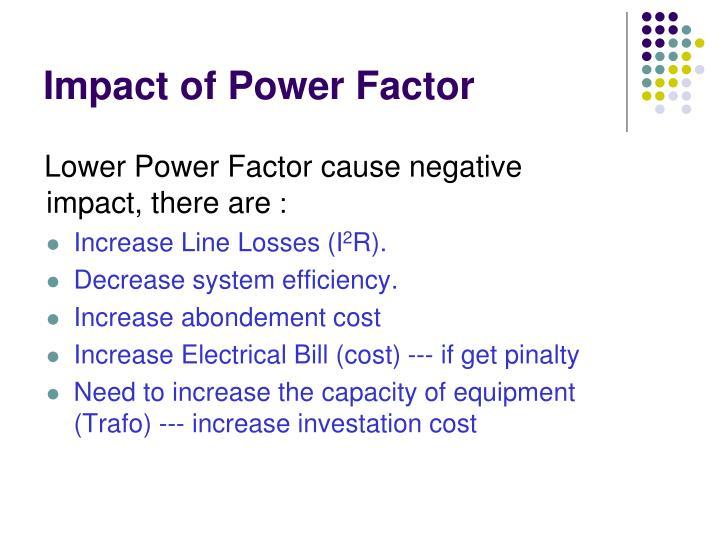 Impact of Power Factor