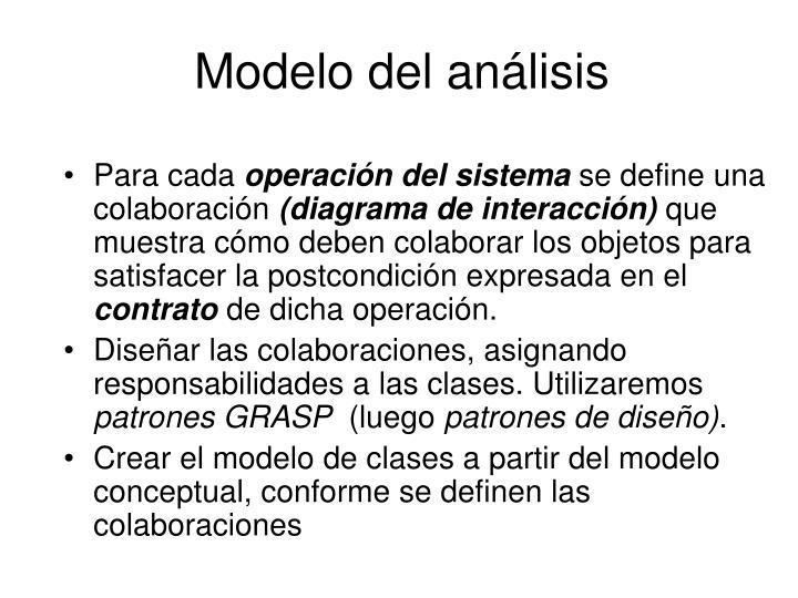 Modelo del análisis
