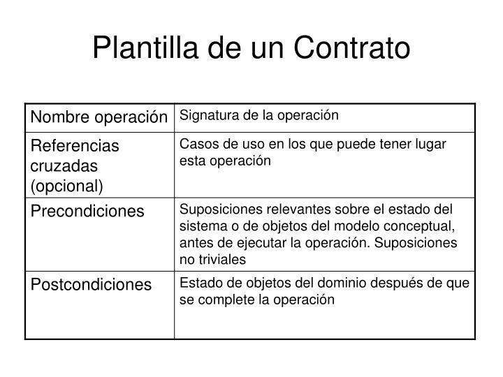 Plantilla de un Contrato