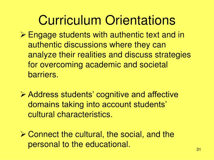 Curriculum Orientations