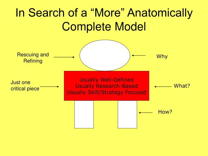 "In Search of a ""More"" Anatomically Complete Model"