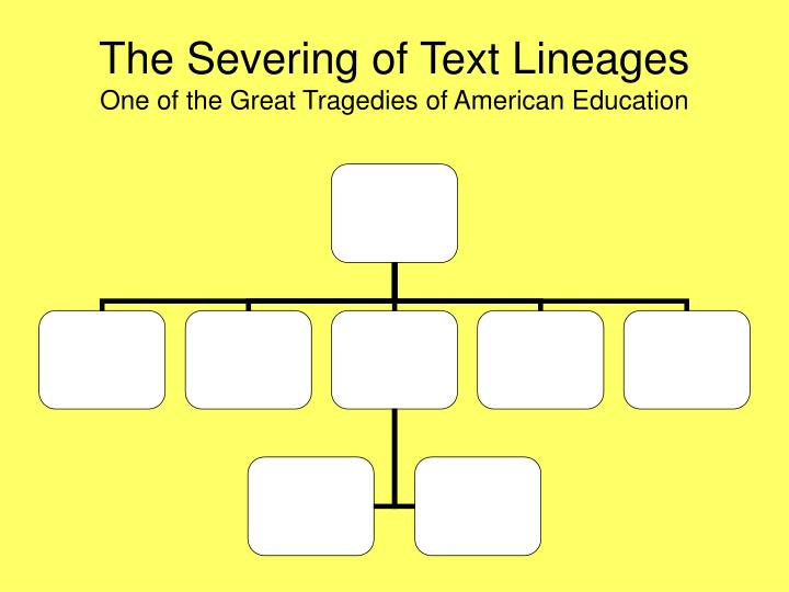 The Severing of Text Lineages