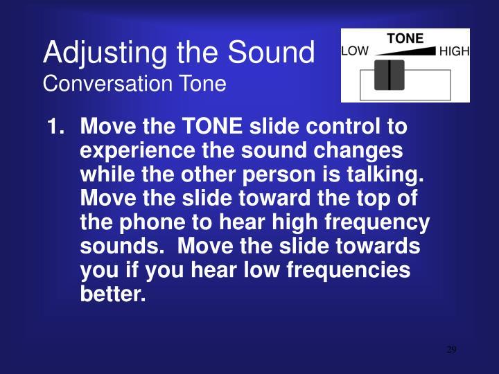 Adjusting the Sound