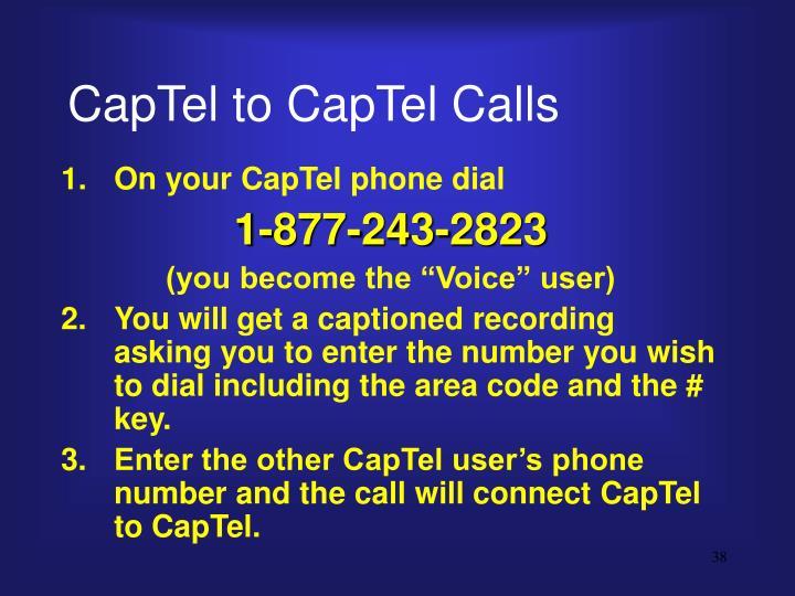 CapTel to CapTel Calls