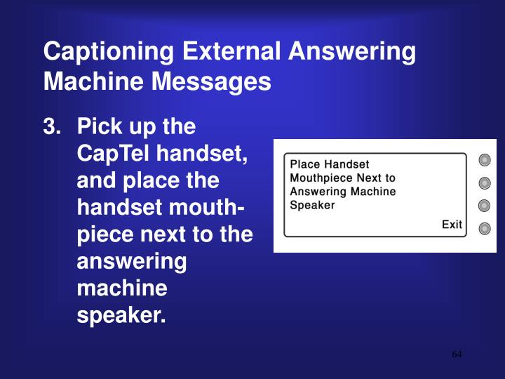 Captioning External Answering Machine Messages