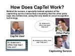 how does captel work