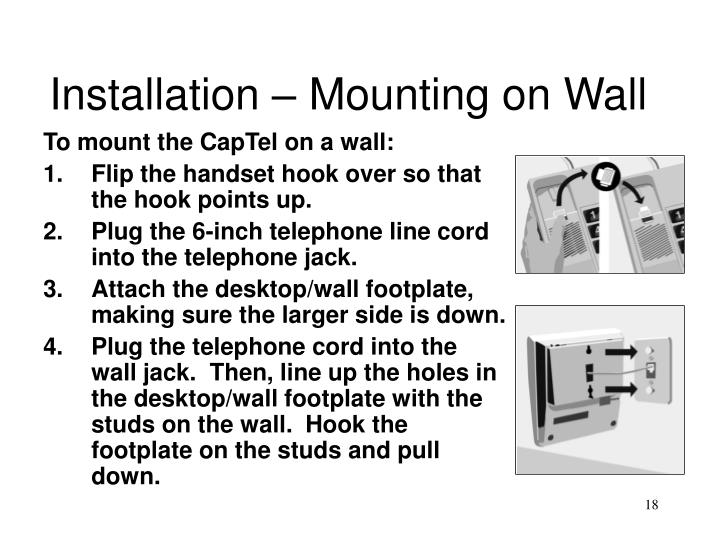 Installation – Mounting on Wall
