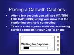 placing a call with captions1