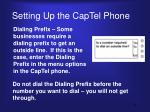 setting up the captel phone1