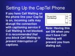 setting up the captel phone2
