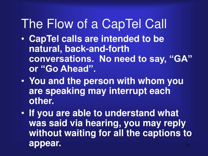 The Flow of a CapTel Call