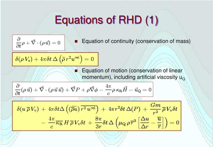 Equations of RHD (1)
