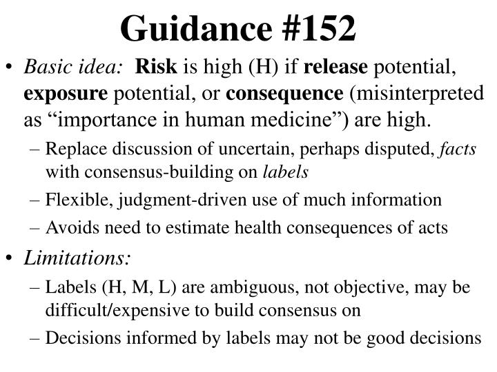 Guidance #152