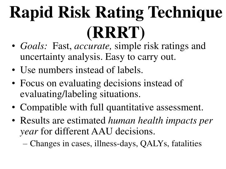 Rapid Risk Rating Technique (RRRT)