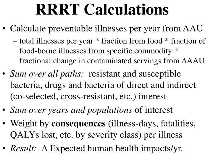 RRRT Calculations