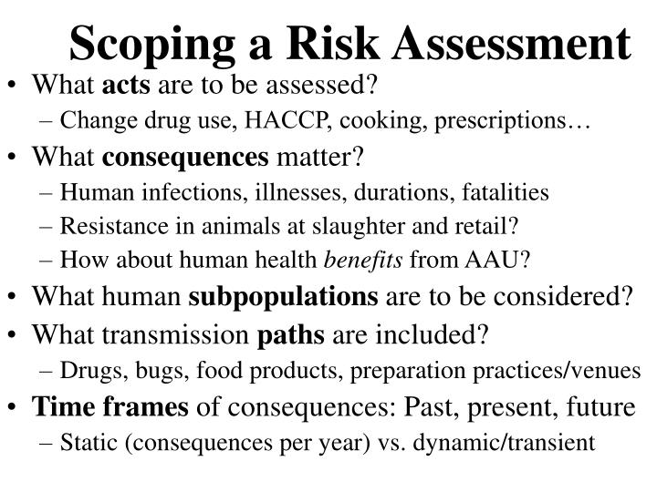 Scoping a Risk Assessment