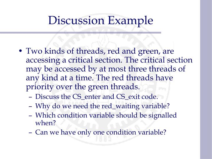 Discussion Example