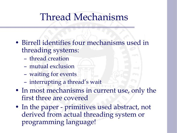 Thread Mechanisms
