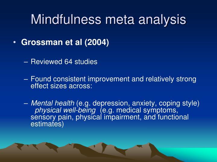 Mindfulness meta analysis