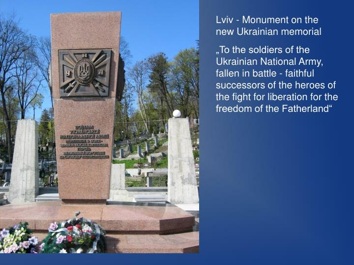 Lviv - Monument on the new Ukrainian memorial