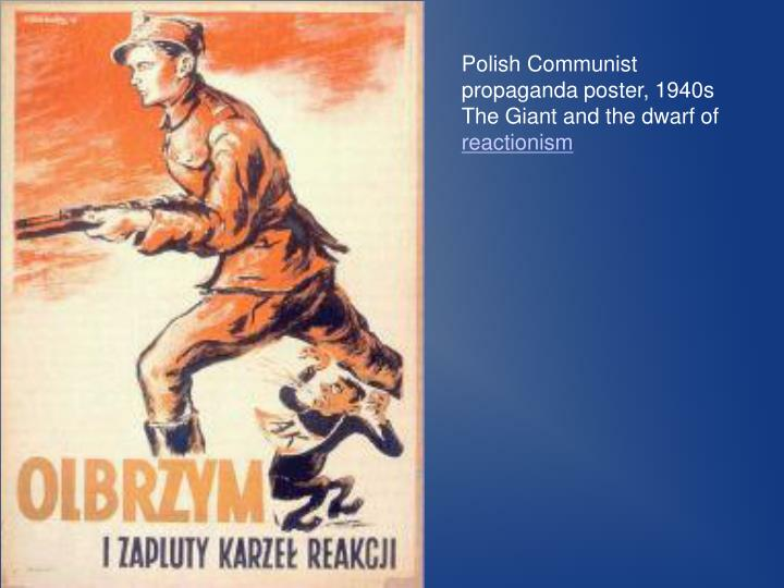 Polish Communist propaganda poster, 1940s