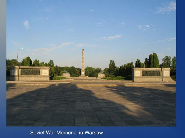 Soviet War Memorial in Warsaw