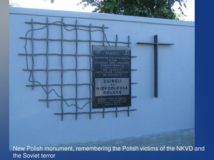 New Polish monument, remembering the Polish victims of the NKVD and the Soviet terror