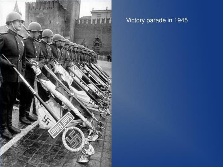 Victory parade in 1945