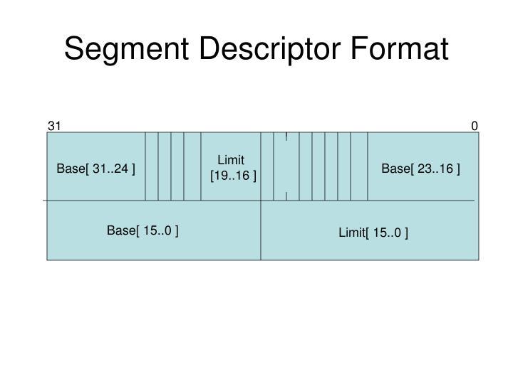 Segment Descriptor Format