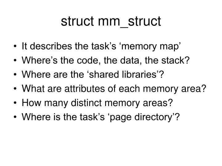 struct mm_struct