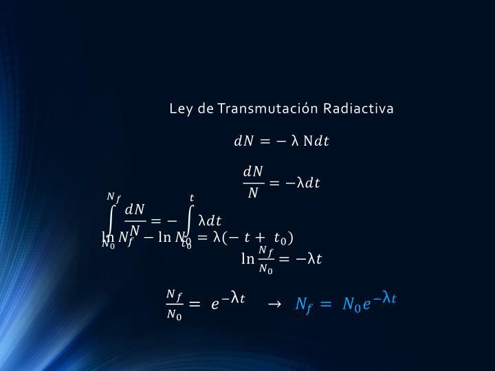 Ley de Transmutación Radiactiva
