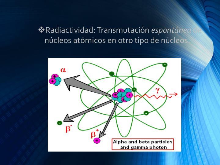 Radiactividad: Transmutación